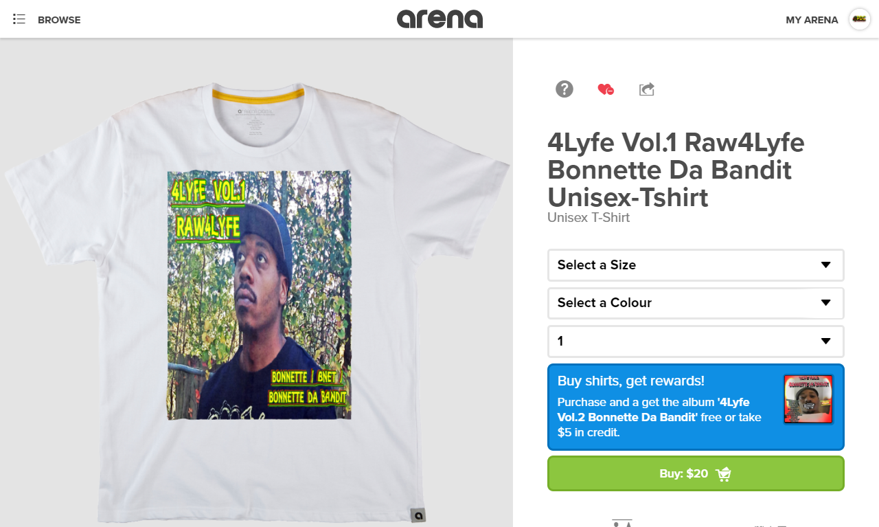 4Lyfe Vol.1 Raw4Lyfe https://arena.com/bonnette/4lyfe-vol1-raw4lyfe-tee