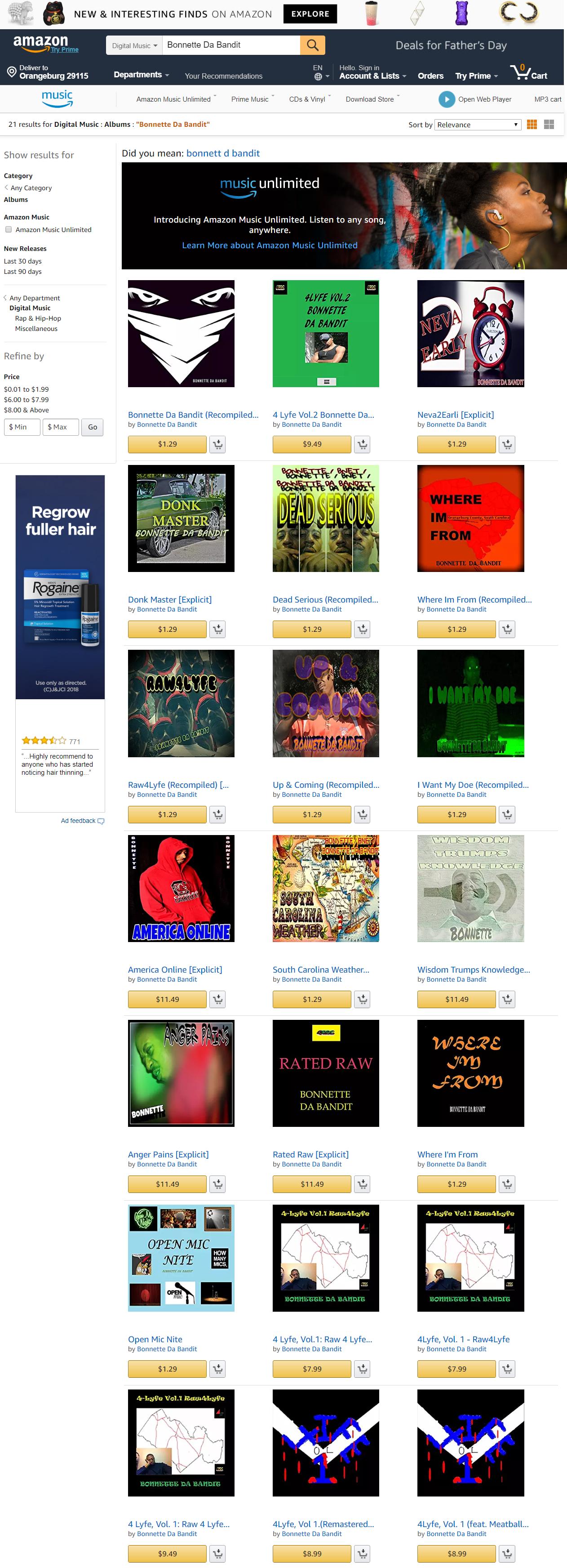 Amazon.com Bonnette