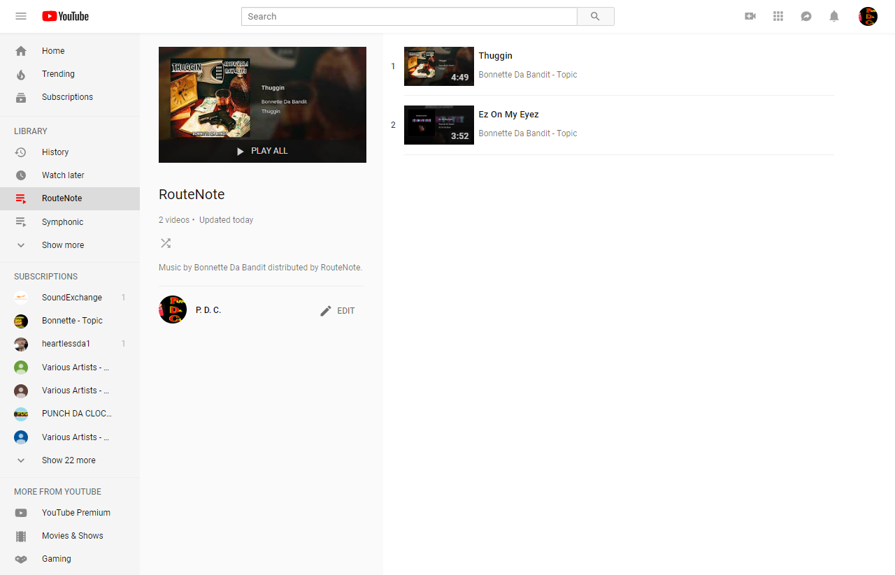 RouteNote - YouTube